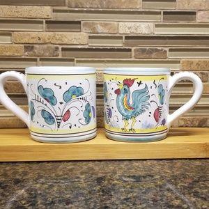 Italian Deruta handmade and hand painted mugs 2